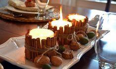 Auf folgende Seite erkennen Sie, wie kann man solche wunderschöne Kerzen mit Zimtstangen selber machen. Es macht man ganz einfach und nimmt wenig Zeit.