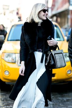 NYFW live: Blacks and whites - SHOP THE STREET STYLE LOOKS HOT OFF #NYFW ONLY ON #MUSESTYLE