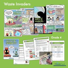 Our fourth grade unit, Waste Invaders, focuses on how to reduce the amount of trash and wastewater we produce. Includes two full-color comics and a guide with discussion questions, hands-on activities, and student pages. Download the comics and teacher guide free. #fourthgrade #SDG3 #SDG6 #SDG11 #SDG12#SDG14 #SDG15