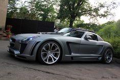 Matte Grey Mercedes-Benz SLS