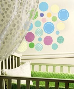 take a look at this baby dots wall decal set by wallies on zulily today - Baby Wall Designs