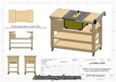 [Reportage]Dewalt et sa station d'accueil. - Page 5 Table Saw Workbench, Building A Workbench, Woodworking Shop Layout, Woodworking Workbench, Woodworking Projects, Table Saw Stand, Diy Table Saw, Scie Diy, Fabrication Table