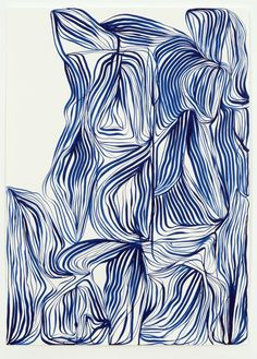 From Tanya Ling Studio, Tanya Ling, Line Painting Dr. Ph, Martin's Fine Art Watercolor Ink Ultramarine) on White Somerset Satin, 210 × … Alien Drawings, Art Drawings, Illustrations, Illustration Art, Art Folder, Sketchbook Inspiration, Photo Wall Collage, Watercolor And Ink, Abstract Wall Art