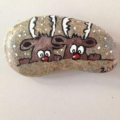 #stonepainting #tasboyama #christmas #deer #happynewyears