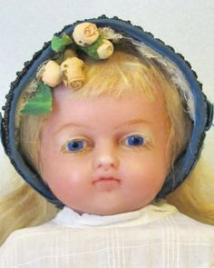 """20"""" English Poured Wax Doll, All Antique - Faraway Antique Shop 2, http://farawayantiqueshop2.com/20-english-poured-wax-doll-all-antique/ #unitedsllers"""
