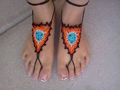 Triangle Barefoot Sandals Free Crochet Pattern