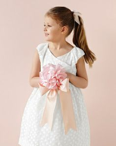 Flower Girl Ribbon Bouquet with Handle - 50 Good Things for Your Wedding via Martha Stewart Weddings