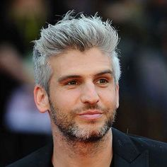 21 Best Men's Hairstyles For Silver and Grey Hair Men Guide) Messy Brushed Up Hair + Full Bear New Mens Haircuts, Haircut Names For Men, Older Mens Hairstyles, New Short Hairstyles, Stylish Haircuts, Men's Haircuts, Men's Hairstyles, Hairstyle Ideas, Short Sides Haircut