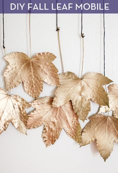 DIY Fall Leaf Mobile - You'll LOVE this easy project and it'll add a bit of seasonal charm to your home.