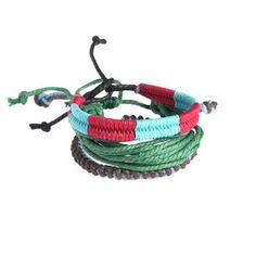 Bonete Woven Beach Bracelet Set, $22, now featured on Fab.