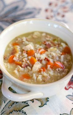 Chicken, Bacon and Rice Soup