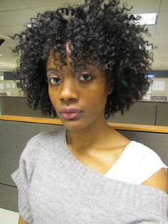 love it: twist out with bangs.  gotta try this//trying this this wknd for Miami