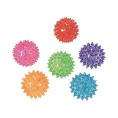 Mini Light-Up Spike Balls - OrientalTrading.com