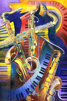 "Featured Branford Marsalis and Joey Calderazzo ""Duo"" with Augusta's own Jessye Norman. Painted by Ann deLorge for the concert. Jazz Art, Jazz Music, Music Music, Reggae Music, Blues Music, Road Trip Music, Jazz Painting, Pop Art, Jazz Poster"