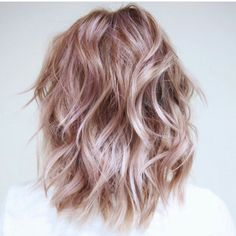 soft pastel mauve blonde