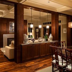Traditional Dining Design Ideas, Pictures, Remodel and Decor Home Renovation, Home Remodeling, Kitchen Open Concept, Demis Murs, Load Bearing Wall, Column Design, Interior And Exterior, Interior Design, Half Walls