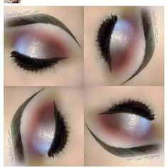 eye makeup, duo chrome, winged eyeliner, cut crease