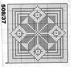 Filet Crochet, Crochet Quilt, Crochet Cross, Tapestry Crochet, Crochet Squares, Crochet Motif, Graph Paper Art, Crochet Dollies, Crochet Cushions