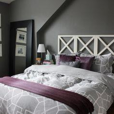 Light Purple And Gray Bedroom