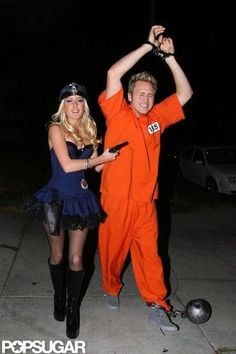 Heidi Montag and Spencer Pratt as a Police Officer and an Inmate