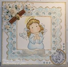 *Magnolia ANGEL TILDA Rubber Stamp Merry Little Christmas 2010