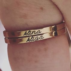 Personalizzato nome anello-accatastamento anelli-regalo | Etsy Thin Rings, Name Rings, One Ring, Personalized Necklace, Ring Necklace, Mother Gifts, Metallica, Jewelry Gifts, Rose Gold
