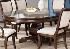 Harris Traditional Formal Oval Cherry Single Pedestal Dining Table