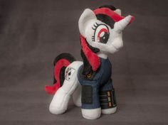 Plush Blackjack Fallout Equestria:Project Horizons Custom Pony 10,5 inches