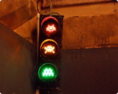 Space Invaders traffic signal