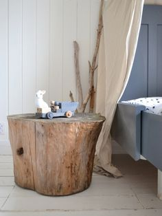 The Orange Deer: Tree stump table: ricavare un tavolino da un ceppo
