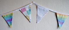 Pastel Rainbow Baby Bunting Nursery Bunting by BlossomvioletCrafts