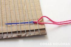 """DIY Cómo fabricar un """"telar"""" con cartón reciclado y nociones básicas para usarlo Lana, Outdoor Blanket, Home And Garden, Diy, Virginia, Home Decor, Google, Macrame, Places"""