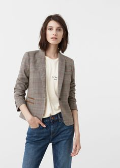 Check suit blazer - Jackets for Woman | MANGO Greece