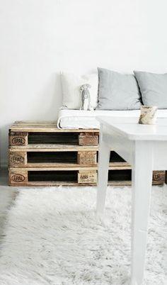 = DIY pallet sofa