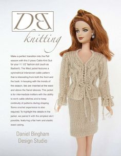 This listing is for PDF format pattern instructions to knit the Cable Knit Suit…