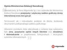 Opinia Ministerstwa Edukacji Narodowej #migomedia #men #ministerstwoedukacjinarodowej