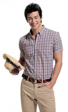Dennis Oh, Character Inspiration, Asian Beauty, Hot Guys, Button Down Shirt, Men Casual, Shirt Dress, Mens Tops, Shirts