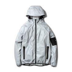 WHEREHOUSE [T-Level X Whyplusseven - Flazma Reflective Jacket Sliver]