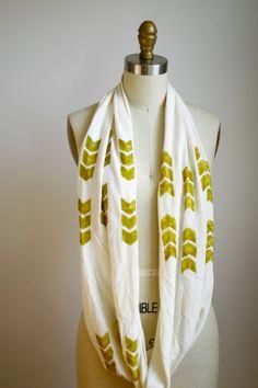 Chevron Cowl Scarf  Organic Bamboo Cotton  Off by shoprarebird, $44.00