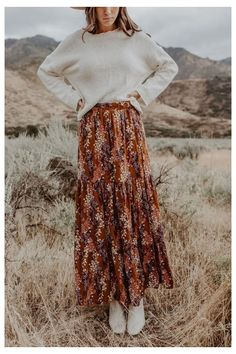 Modest Outfits, Modest Fashion, Hippie Outfits, Boho Fashion, Fall Outfits, Casual Dresses, Fashion Looks, Fashion Outfits, Fashion Tips