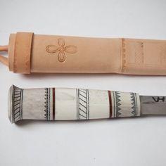 Mjölk : Hand forged Reindeer Antler Knife - LT315