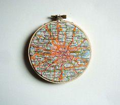 London Map Art by yinsteadofi on Etsy, $15.00