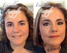 Maquillaje con aerógrafo . El antes y el después !