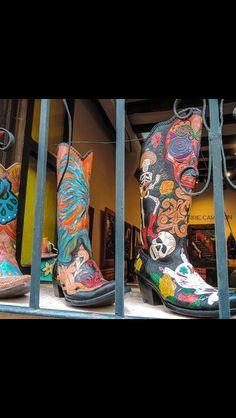 Colorful cowboy boots.