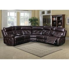 Presley Cocoa Reclining Sectional In 2019 Lovely