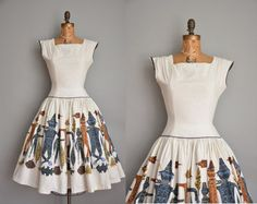 vintage 1950s dress / 50s dress / scarecrow by simplicityisbliss