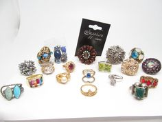 VTG & FASHION 20 PIECE VARIETY OF STYLES RINGS COLLECTION LOT | eBay