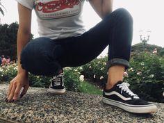 Skater look Palermo #vans #oldschool #skinnyGAP #OCNshirt Skater Look, Vans Old Skool, Palermo, Old School, Skinny, Sneakers, Shoes, Fashion, Tennis