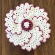Crochet Square Patterns, Baby Knitting Patterns, Crochet Designs, Stitch Patterns, Crochet Flower Tutorial, Crochet Flowers, Crochet Lace, Spool Knitting, Easy Knitting