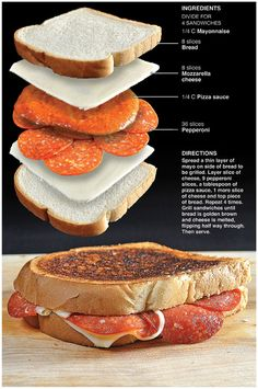 Printable version   If you like pizza, you will like pizza grilled cheese.   Seriously, I was as impressed with this as I am with a hot ...